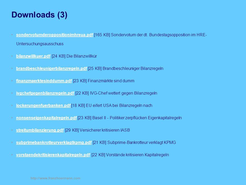 Downloads (3) sondervotumderoppositionimhreua.pdf [165 KB] Sondervotum der dt. Bundestagsopposition im HRE- Untersuchungsausschuss.
